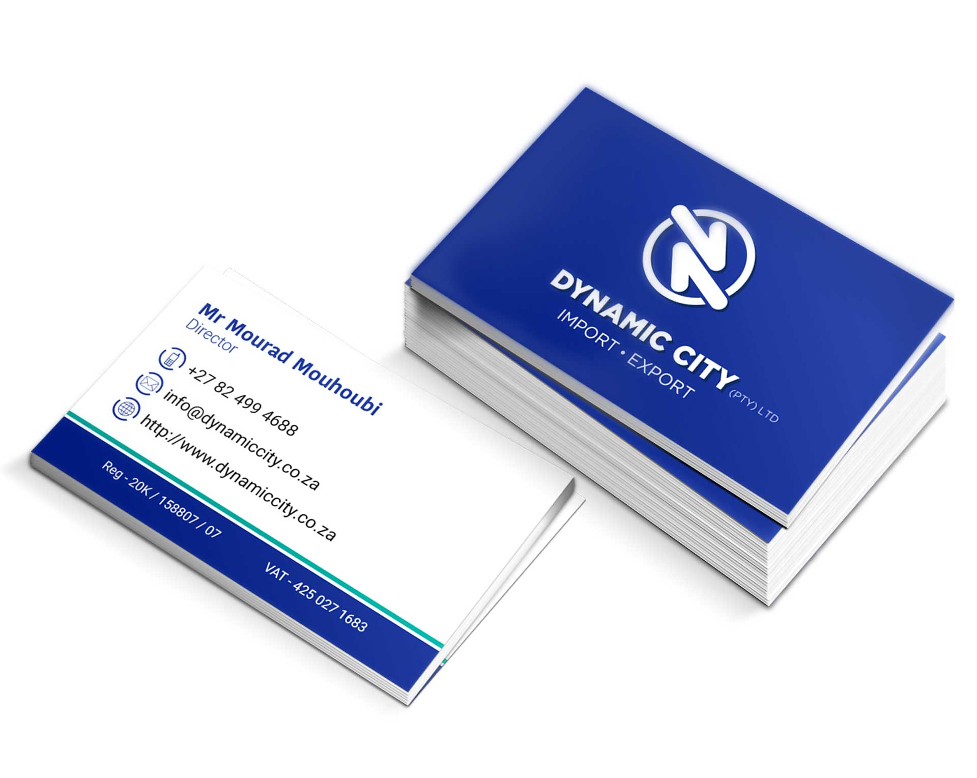 Business Cards for DYNAMIC CITY - Graphic Design and Marketing by In ...