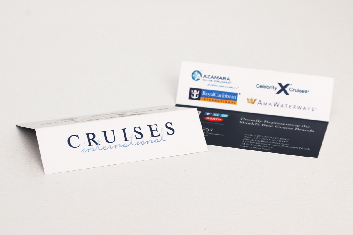 Business Cards CRUISES INTERNATIONAL - Graphic Design and Marketing ...