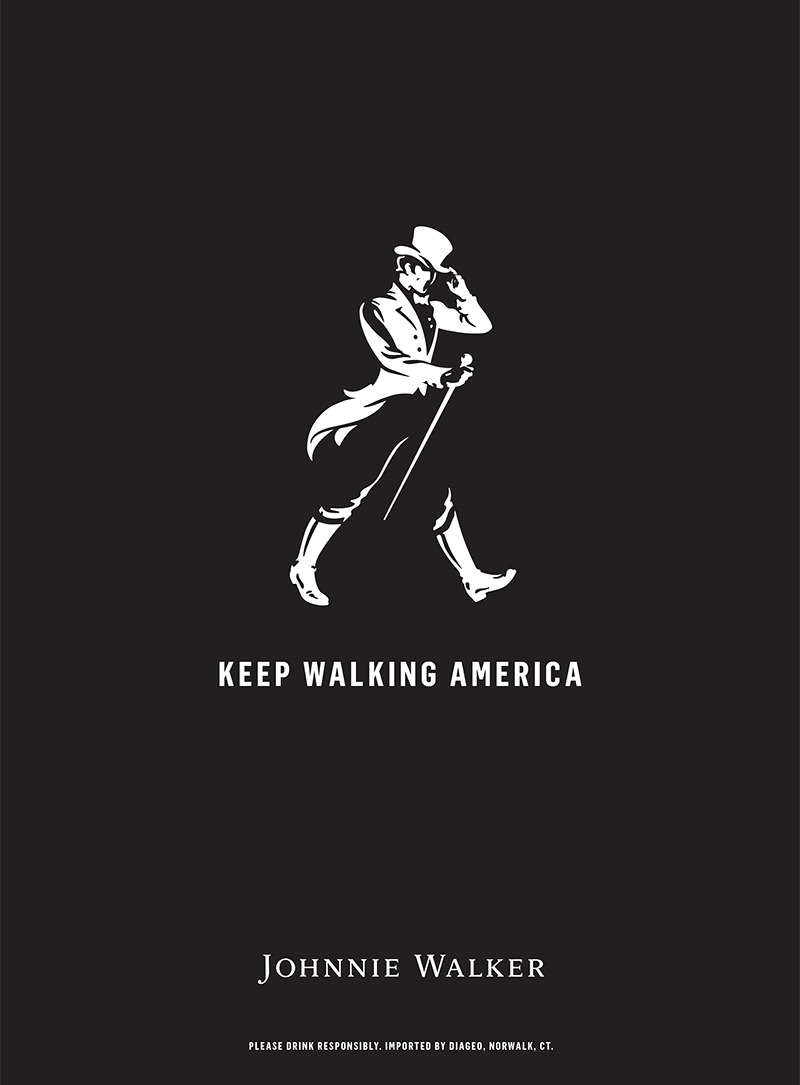 A Look At The Striding Man Logo From Johnnie Walker - Graphic Design and Marketing by In-Detail